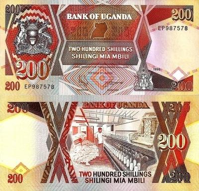 # УГАНДА - 200 ШИЛЛИНГОВ - 1996 - P-32 - UNC