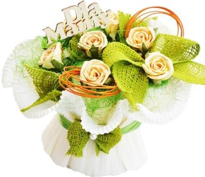 Ładny Fajny Prezent na Dzień Matki dla Mamy Bukiet