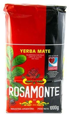Yerba Mate Rosamonte классическая 1кг Розовый Аромат