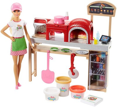 BARBIE PIZZERIA SET S BÁBIKA FHR09