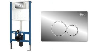 Montážny rám pre závesné WC - WC NASTAVENIE NASTAVENIA PRÁČKY 6in1 SLIM E CHROME