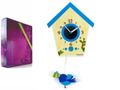 Detské hodiny, budík - Detské hodiny BIRD tiché s darčekom kyvadla PL