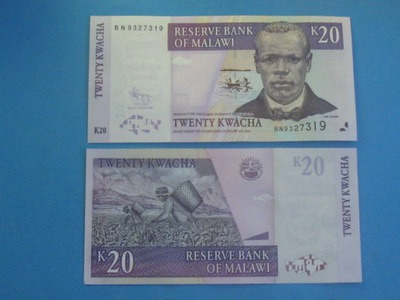 Малави Банкноты 20 Квач 2009 P-Instagram ???  UNC