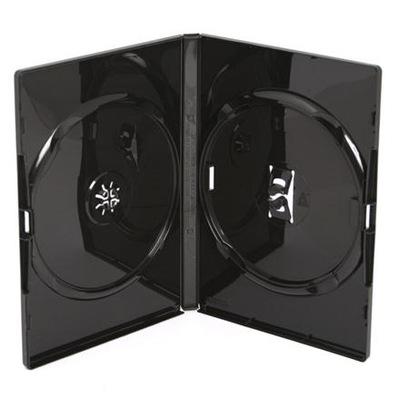 Pudełka AMARAY CZARNE na 2 x DVD 50 sztuk 14mm