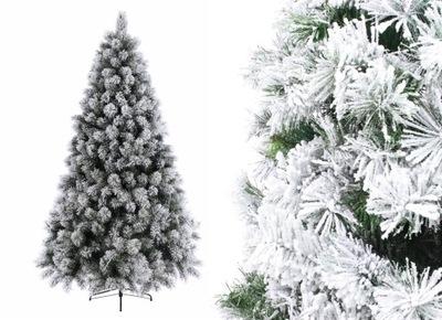 Vianočné stromčeky - STROM BOROVICA EVERLANDS 180 cm BIELA Hrubé PE