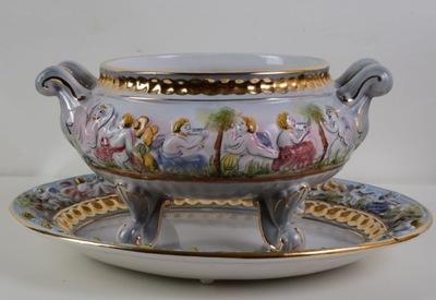 Ослепительно Ваза на тарелке керамика Portugal.638