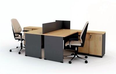 kancelársky Nábytok 2 Stôl, 2 kontajnery, 1 delič