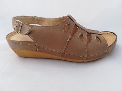 sandały skórzane przecena