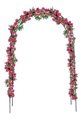 МЕТАЛЛИЧЕСКАЯ пергола ??? сада ЛУК цветы розочки 3214