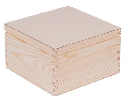 PUDEŁKO drewniane 20x20cm DECOUPAGE prezent EKO