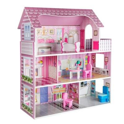 DREVENÝ domček pre bábiky BIG, 3 PODLAŽIACH NÁBYTOK