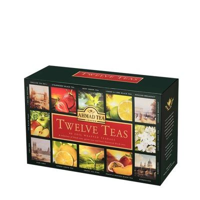 Ахмад Twelve 12 Ароматов с подарками комплект чаев