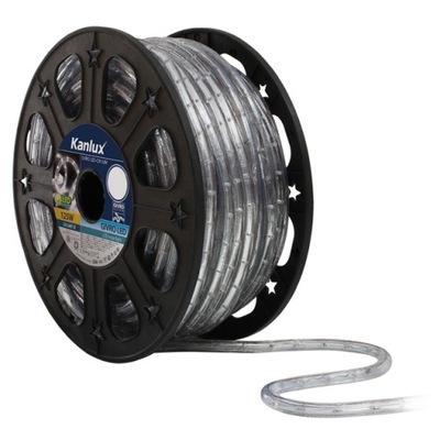 Wąż świetlny LED pasek biały zimny ogrodu 230V 5m
