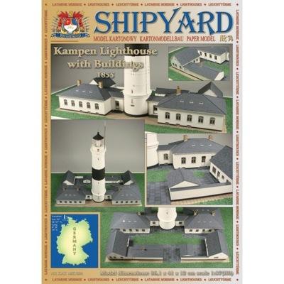 1:87 Kampen Lighthouse with Buildings Shipyard 74