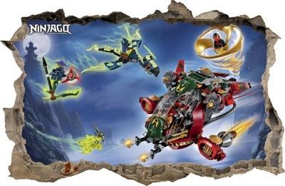 Nástenná samolepka - SÚPRAVY NA STENY Dierka LEGO NINJAGO 84 115x75cm