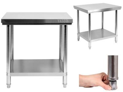 Pracovný stôl, stavebný podstavec -  TABULKA WORKSHOP YATO 80x70cm NEREZOVÝ OCEL