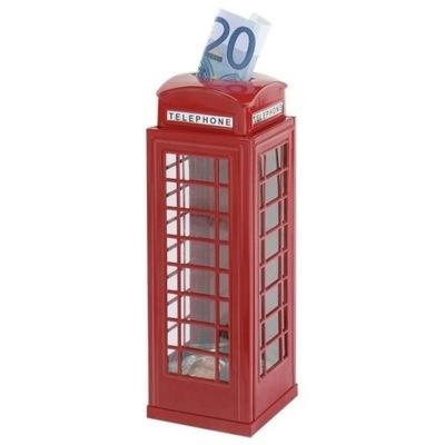 Pokladnička pre deti - METAL BRITISH TREASURE PHONE BOX