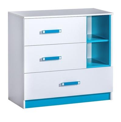 meble TRAFIKO 08 komoda biała szuflady półki biała