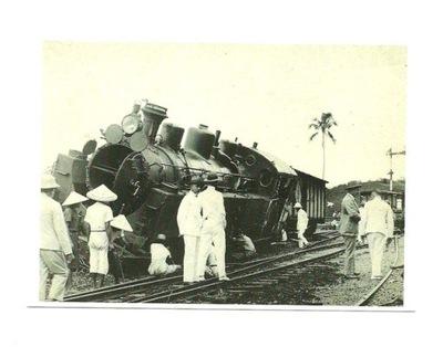 Открытка - Душевнобольная локомотив / Java, 1929 года.