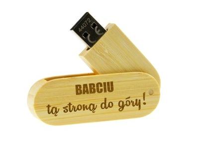 e1034514ff9fe PAMIĘĆ USB DLA DZIADKA BABCI Z GRAWEREM NA PREZENT