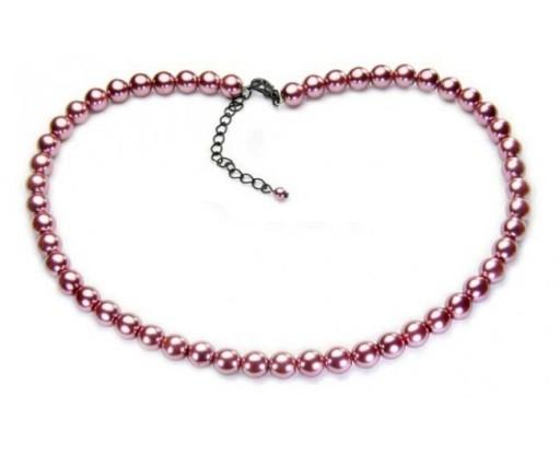 naszyjnik z pereł różowy perły klasyczne korale 6813495841 - Allegro.pl -  Więcej niż aukcje. cae6481d336