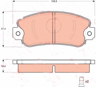 STABDZIU KALADELES FIAT, LANCIA, SEAT MP191.1