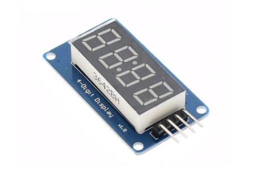 Wyświetlacz LED 4 cyfry sterownik TM1637 ARDUINO