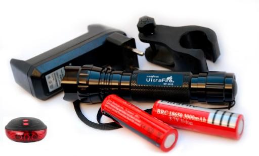 Latarka Ultrafire XM-L2 U2 led + 2 aku + LASER