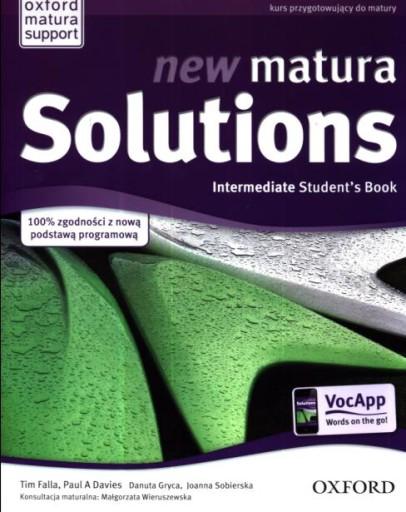 NEW MATURA SOLUTION INTERMEDIATE STUDENT'S OXFORD