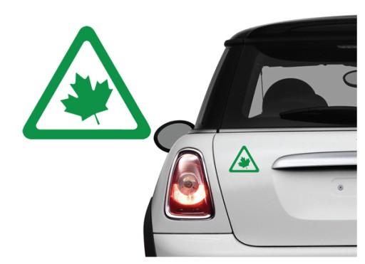 Naklejka na samochód - Zielony Listek Kierowcy