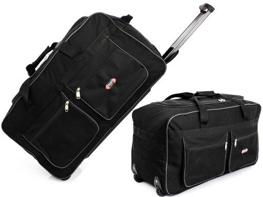 094917b0460f6 duża TORBA PODRÓŻNA na KÓŁKACH bagaż WALIZKA 115L! 6908923873 ...