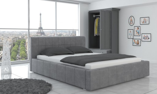 łóżko Tapicerowane Stelaż Pojemnik 140x200 Fresh