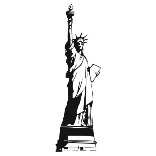 Naklejka na ścianę Statua Wolności New York ,Dekor