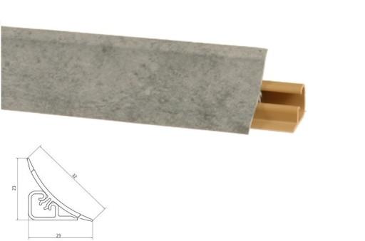 Listwa Przyblatowa Uszczelka 300cm Beton