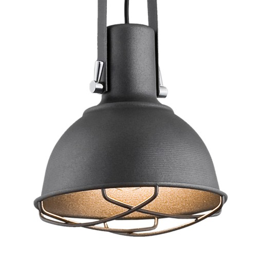 Oryginał szara LAMPA WISZĄCA CALVADOS INDUSTRIALNA, loft 7232800079 FT78