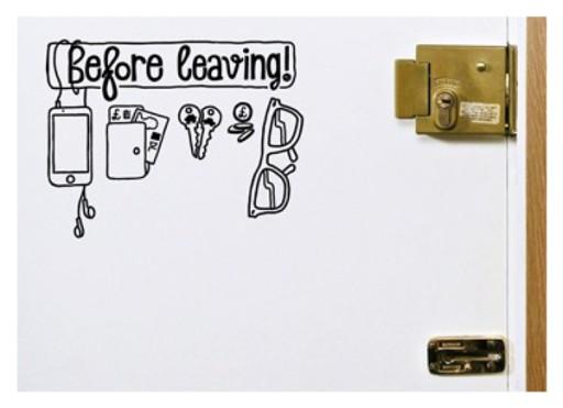 Naklejka na ścianę / drzwi 'Before Leaving'
