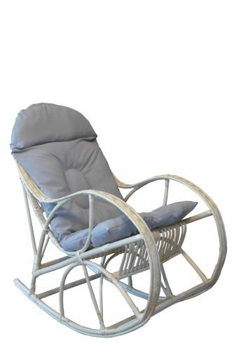 Fotel Bujany Wiklinowy Lord Biały Poduszka 6565570790 Allegropl