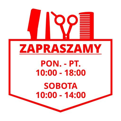 82041a9371cd8b naklejka GODZINY OTWARCIA sklep CZYNNE na szybę 4895779986 - Allegro.pl