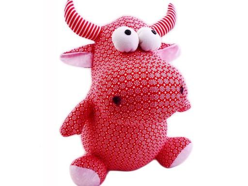 Duża Maskotka pluszowa Krówka krowa czerwona 109