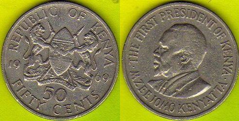 KENIA   50  Cents  1969 r.
