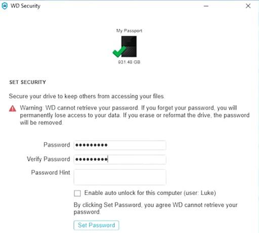 Dysk zewnętrzny WD My Passport 1TB Czarny USB 3.0