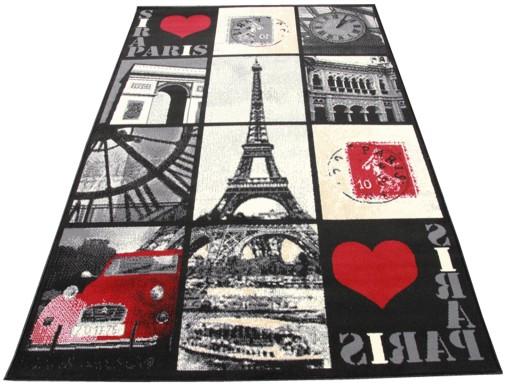 Dywany Młodzieżowe Paris View Black 120x170 City