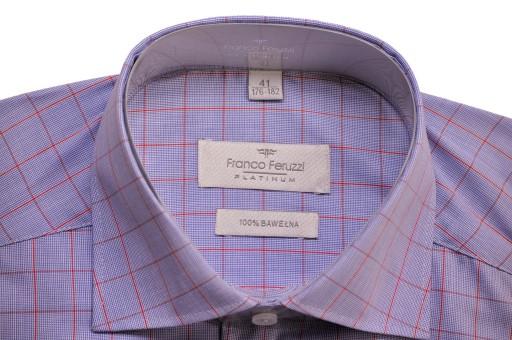 Elegancka męska koszula L 41 176-182 na spinki