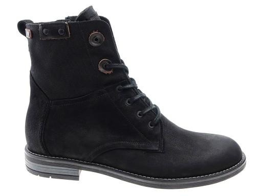 3d560a65 Badura trzewiki buty 4590-F czarne, skóra 41 7034588186 - Allegro.pl