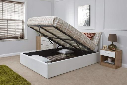 Białe łóżko Prado Z Pojemnikiem 140x200