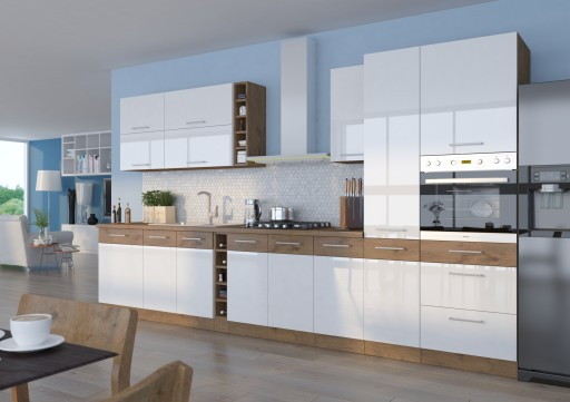 Kuchnia Meble Kuchenne Vigo Biały Połysk 375m 7524535164 Allegropl