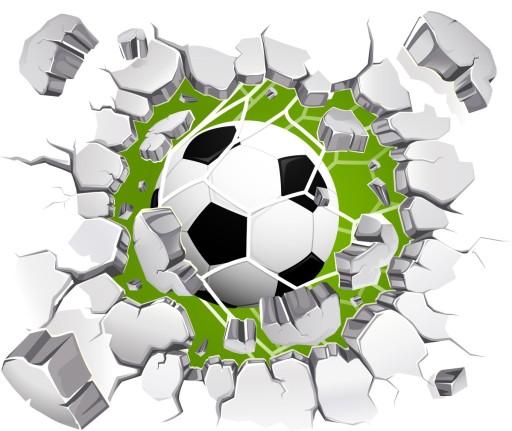 Naklejki Na ścianę 3d Piłka Nożna Piłki 3d 144cm 7078154987 Allegropl