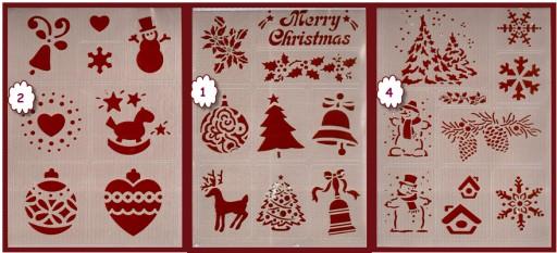 Zimowe świąteczne Szablony Flex
