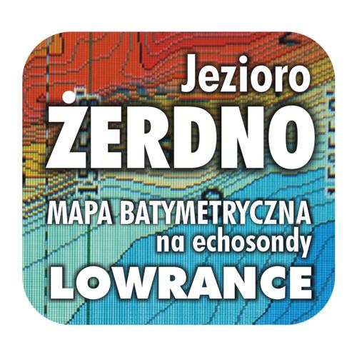 Jezioro Żerdno mapa na echosondy Lowrance Simrad