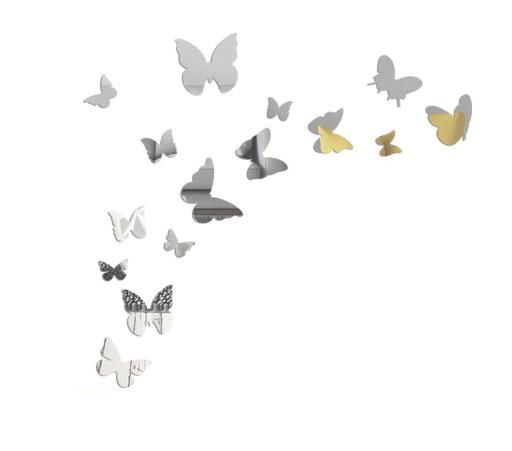Dekoracyjne Lustrzane Motyle Naklejane Na ścianę
